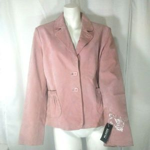 Wilsons Leather Pelle Studio Pale Pink Suede Jkt L